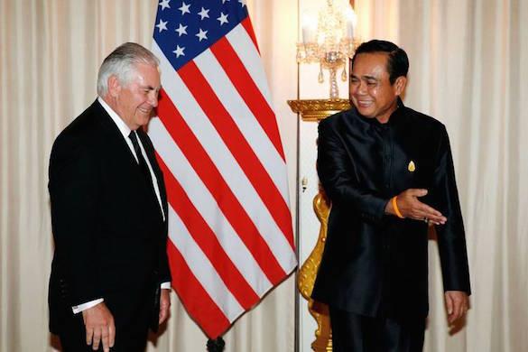 Тиллерсон прибыл вТаиланд обсудить меры влияния наСеверную Корею