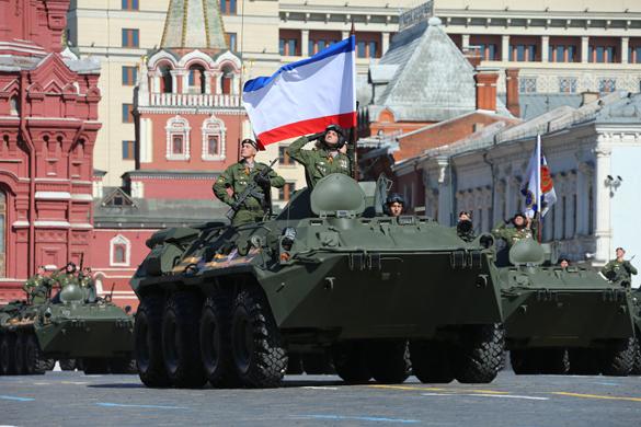 В российских городах прошли  парады в честь 70-летия Победы. 319323.jpeg