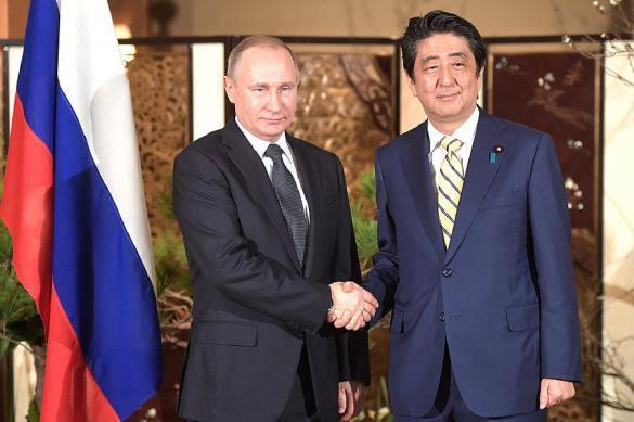 Путин иАбэ подводят результаты переговоров в российской столице