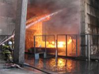 Пожар на заводе в Подмосковье потушен