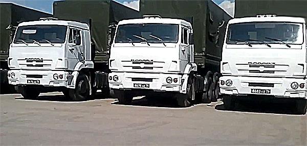 Колонна с гумпомощью направилась в Донбасс из Ростовской области. Гуманитарная помощь отправлена в Донбасс