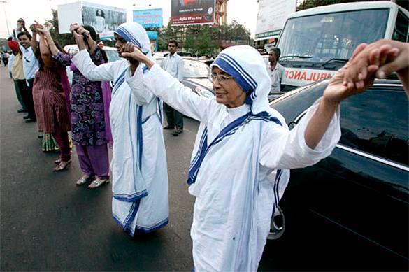 Глава Ордена Миссионеров Милосердия  Сестра Нирмала, преемница Матери Терезы, умерла в Калькутте. 322330.jpeg