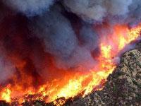 В Калифорнии пожары полыхают на территории почти в 500
