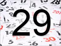 Листок календаря, 29