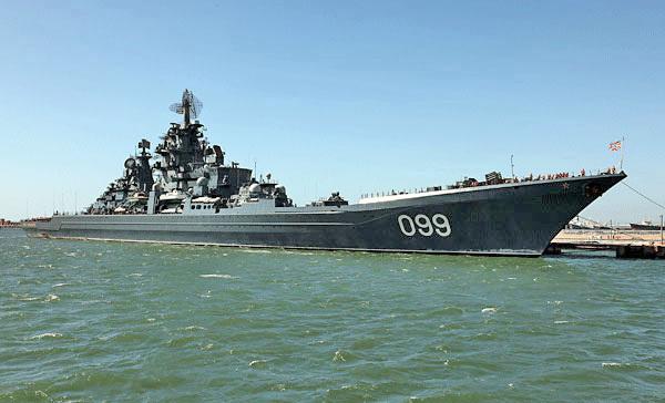 Петр Великий и Адмирал Устинов отстрелялись в Баренцевом мор