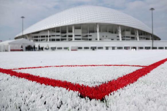 Футбольное поле из пластиковых стаканов презентовали в Сочи. 402350.jpeg