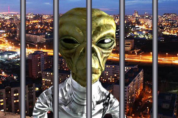 Стражи порядка задержали инопланетянина