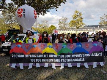 На улицах французских городов протестуют медицинские работники. протест