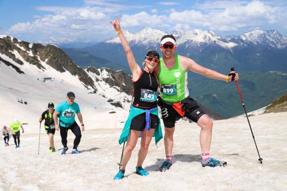 Горы спорта в горах Сочи. туристы