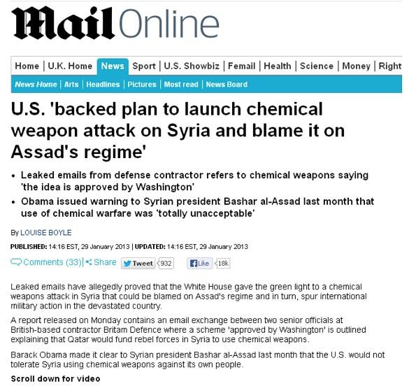 Пентагон обучал повстанцев Аль-Каиды применять химическое оружие