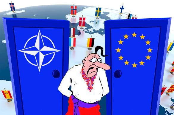 НАТО—Украина: ее в дверь прогоняют, а она в окно лезет
