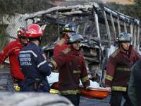 Из-за попавшего в ДТП бензовоза погибли 13 человек. fires