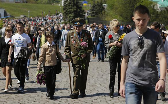 Украинские ветераны возмущены невозможностью отпраздновать День Победы. День Победы в Киеве