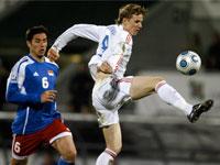 Российские футболисты ведут в матче с Лихтенштейном
