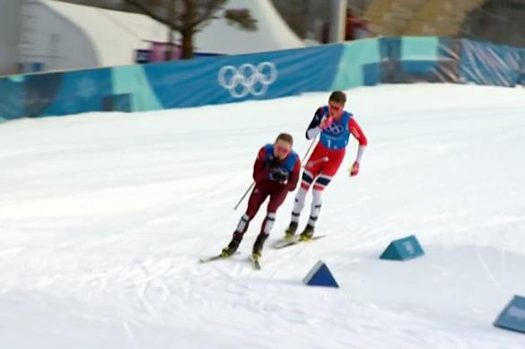 Лыжники России выиграли олимпийское серебро в эстафете. Лыжники России