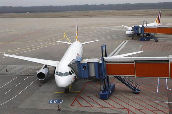 самолет на полосе, проблемы