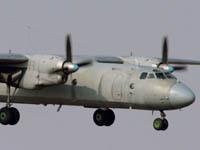 Ан-24 вернулся в Новосибирск из-за проблем с шасси. an