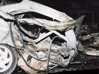 В результате взрыва автомобиля ингушскому следователю оторвало