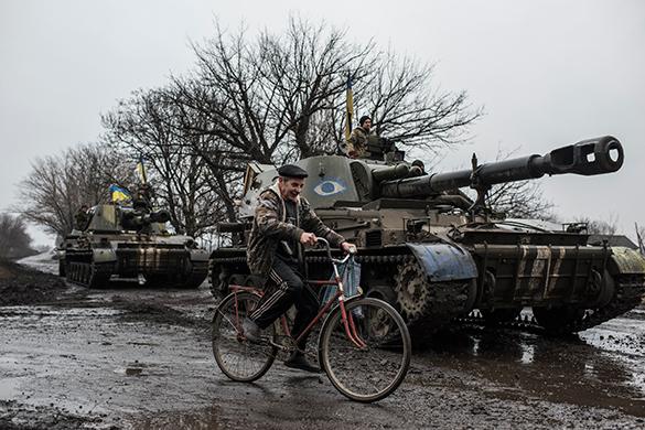 Принято решение об определении границ отдельных районов Донбасса. танк велосипед
