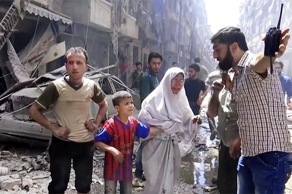 Российские военные помогли сирийским семьям покинуть Алеппо