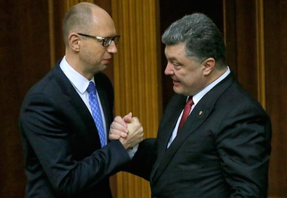 """Яценюк: На Украине """"не пройдет"""" сценарий политического кризиса. Яценюк и Порошенко"""