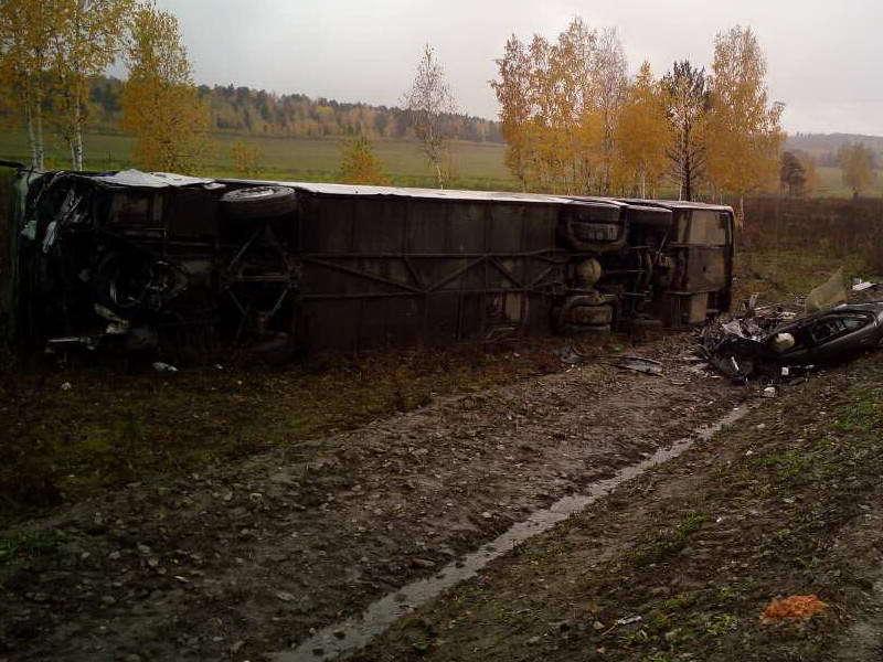Под Иркутском перевернулся автобус с 50 пассажирами: пять человек пострадали. Под Иркутском перевернулся автобус с 50 пассажирами: пять челове