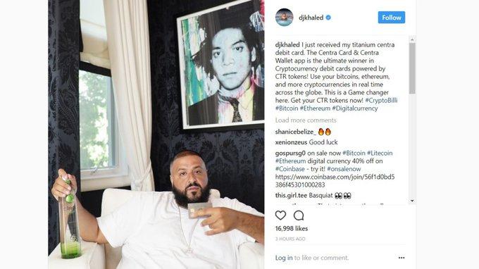Мейвезер и DJ Khaled рекламируют мошенников.