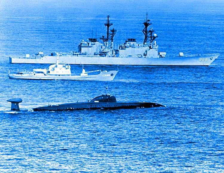 советская подводная лодка у берегов америки холодная война