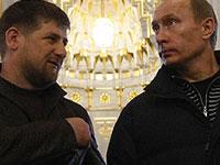 Путин побывал на могиле первого президента Чечни