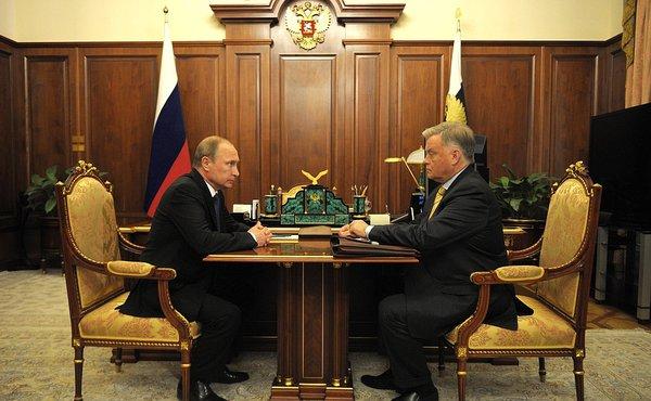 Владимир Путин и Владимир Якунин