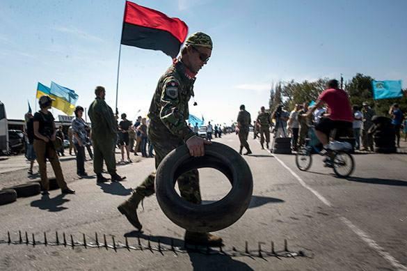 Жители Херсонской области высказались против блокпоста