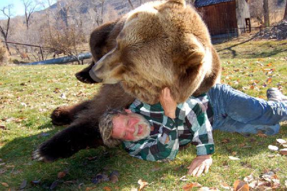 В центре помощи животных в США учат утешать грустных медведей. В центре помощи животных