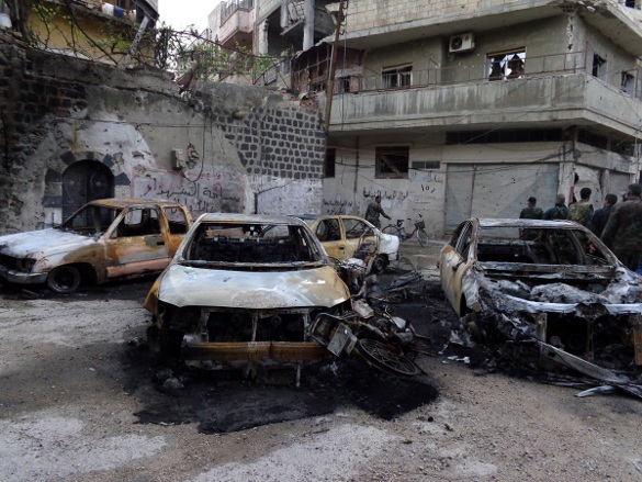 Сирия: Граффити на стенах войны. Репортаж из Хомса (Сирия)
