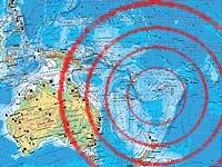 На юге Тихого океана снова произошло землетрясение