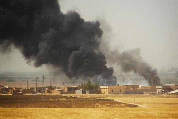 Авиаудар по сирийскому городу
