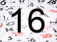 Листок календаря, 16