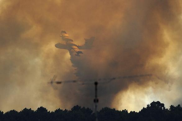ВПортугалии разбился тушивший пожар самолёт