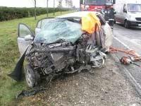 ВАЗ врезался в грузовик на Украине, четверо погибших
