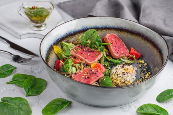 Грибное обострение. Необычные блюда. салат с тунцом