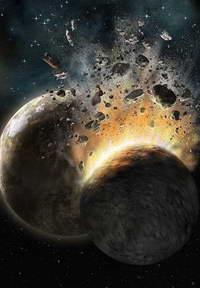 Столкновение планет у стеклянной звезды