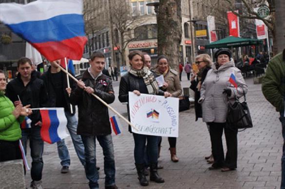 Немцы протестуют против антироссийских санкций. Немцы протестуют против антироссийских санкций