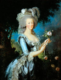 Французская королева Мари-Антуанетта