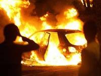 Хулиганы сожгли под Парижем пять автомобилей