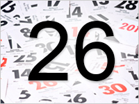 Листок календаря, 26