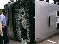 В Польше перевернулся автобус с украинцами