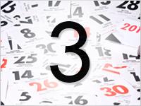 Листок календаря, 3