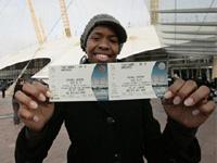 Билеты на концерт Майкла Джексона станут сувенирами