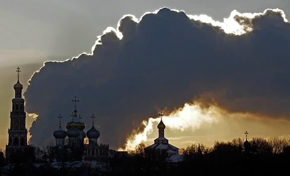 В пятницу 13-го Москву снесло. Москва, погода, вид города, небо