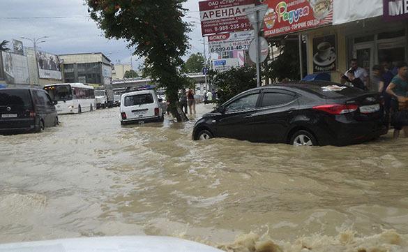 Потоп на дороге