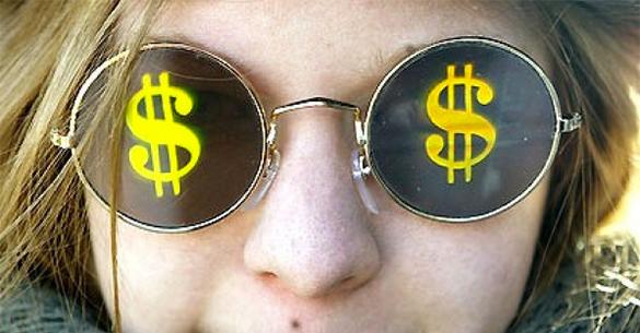 На Украину начали заходить первые деньги МВФ. знак доллара, символ доллара